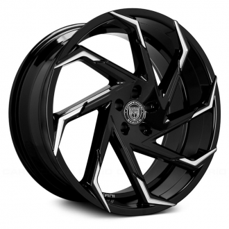 LEXANI - CYCLONE Gloss Black with Machined Tips