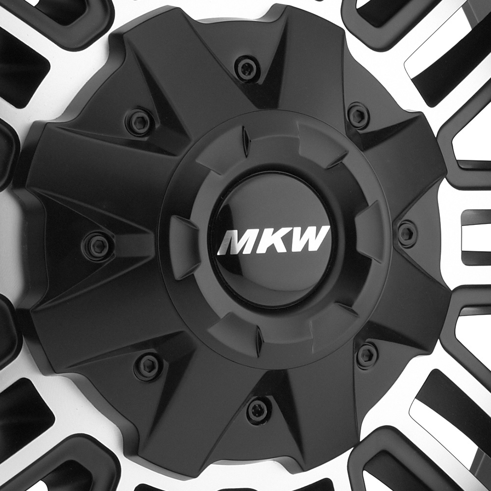 MKW OFF-ROAD M80 Satin Black with Machined Face and Groove