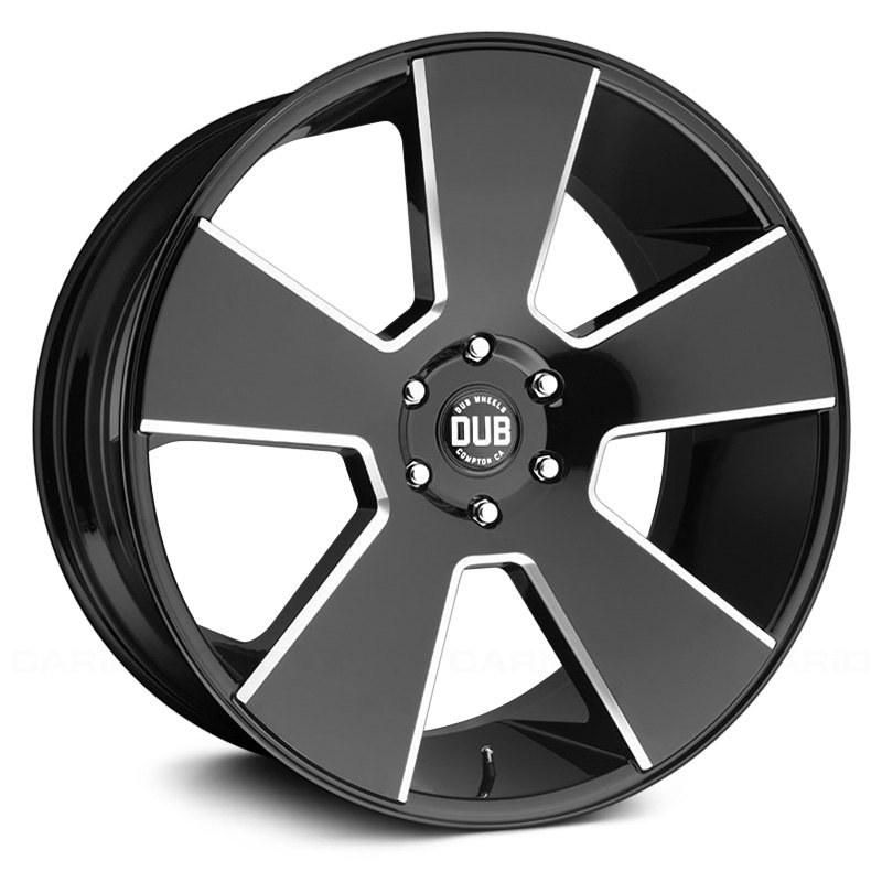 DUB DEL GRANDE Gloss Black with Milled Accents