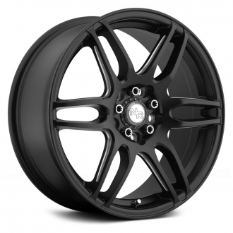 NICHE - NR6 Matte Black with Milled Spokes