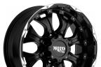 MOTO METAL MO959 Matte Black with Machined Bezel