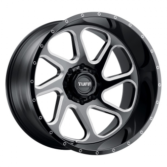 TUFF - T2B Gloss Black with Milled Spokes