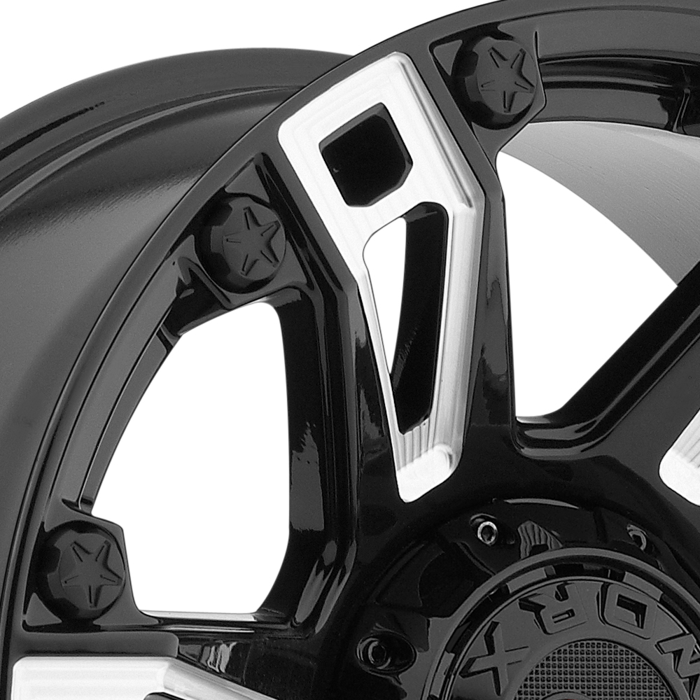 WORX 803BM BEAST Gloss Black with Milled Accents and Clear Coat