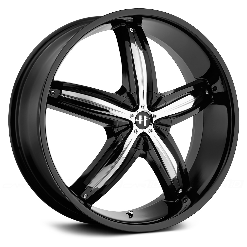 HELO HE844 Gloss Black with Chrome Inserts