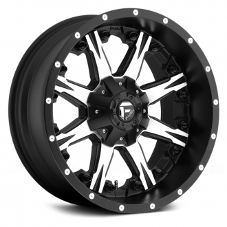 FUEL - NUTZ 1PC Matte Black with Machined Face