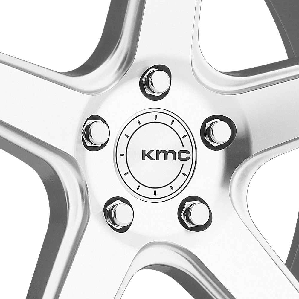 KMC KM685 DISTRICT Silver with Machined Face