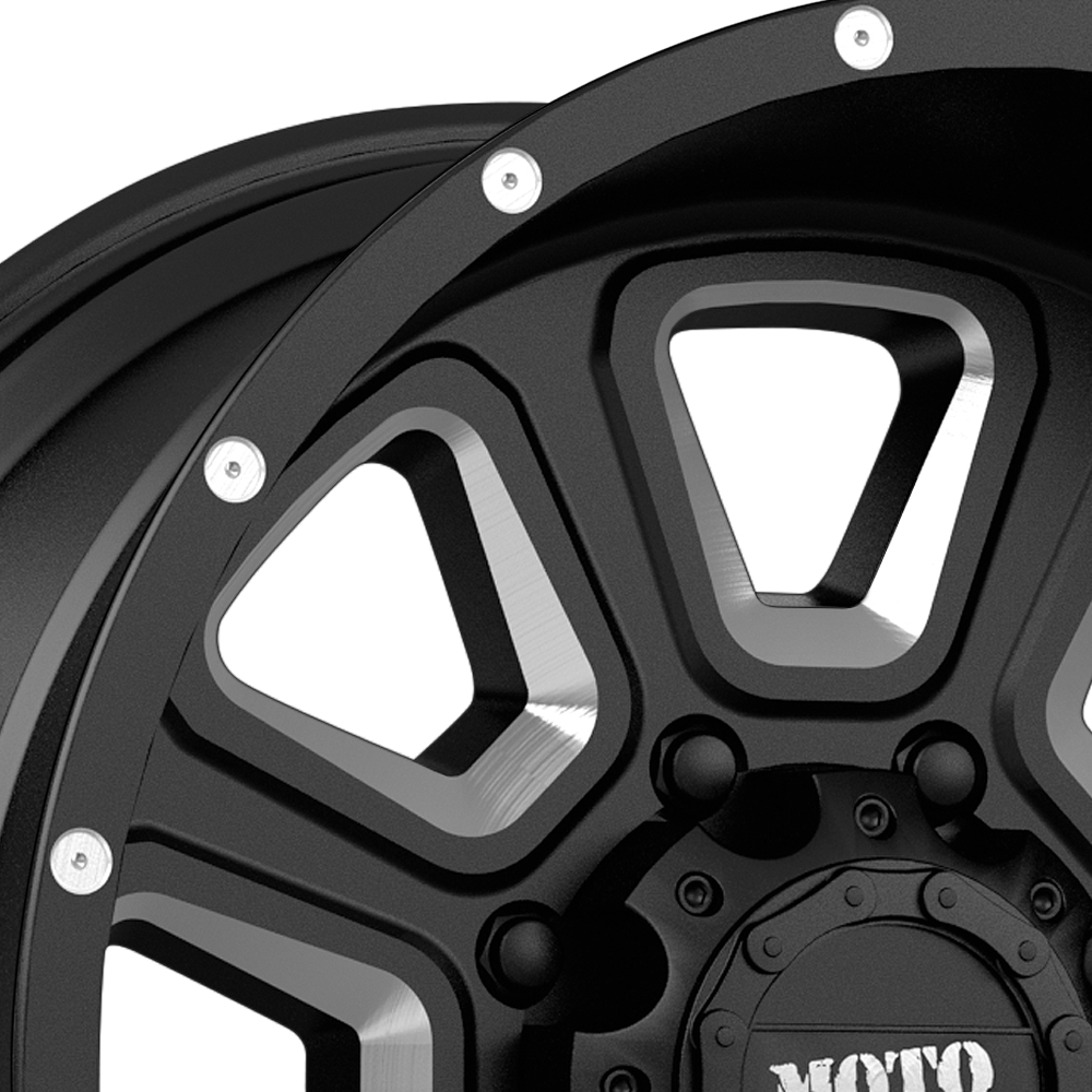 MOTO METAL MO972 Gloss Black with Milled Accents