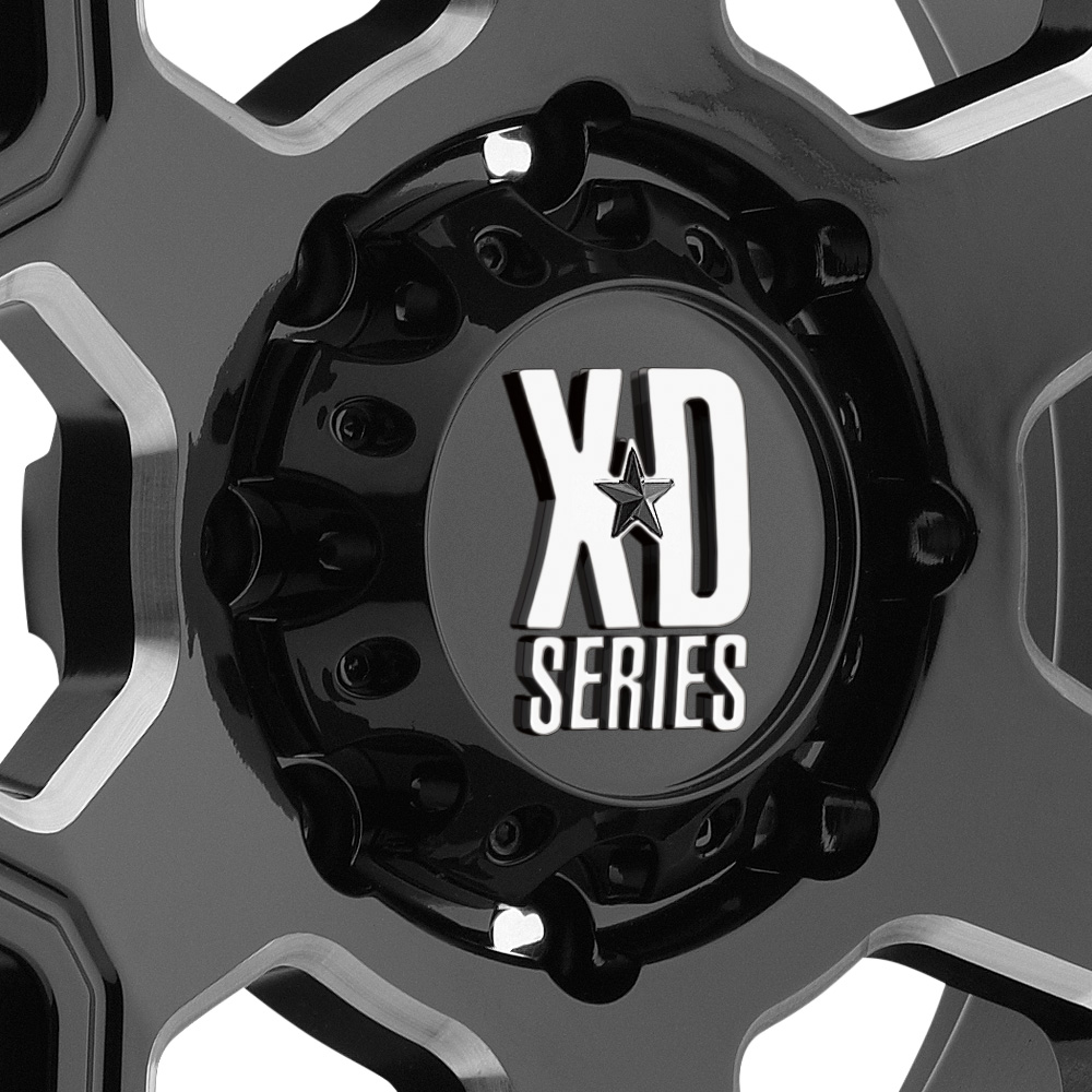 KMC XD SERIES XD812 CRUX Gloss Black with Milled Accents