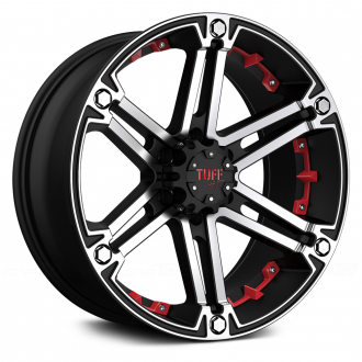 TUFF - T01 Flat Black with Machined Face and Red Inserts