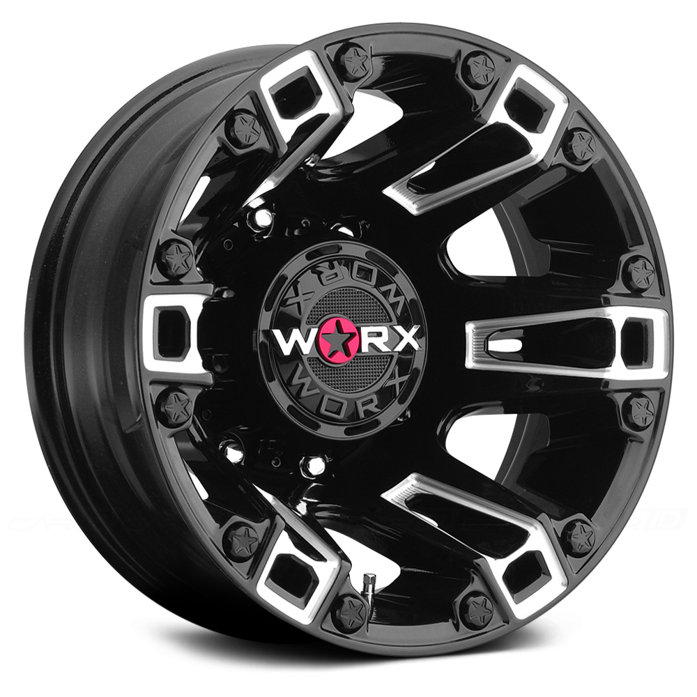 WORX 803BM BEAST DUALLY Gloss Black with Milled Accents and Clear Coat