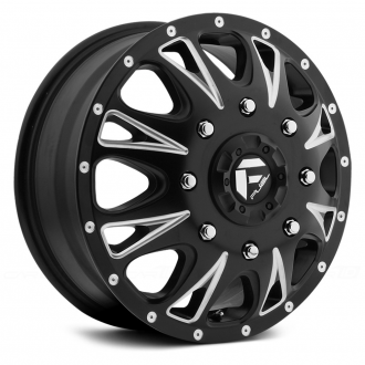 FUEL - THROTTLE DUALLIE 1PC Matte Black with Milled Accents