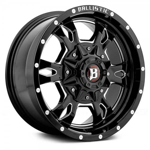BALLISTIC MACE Gloss Black with Milled Accents