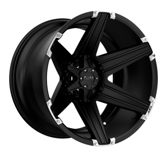 TUFF - T12 Satin Black with Brushed Inserts