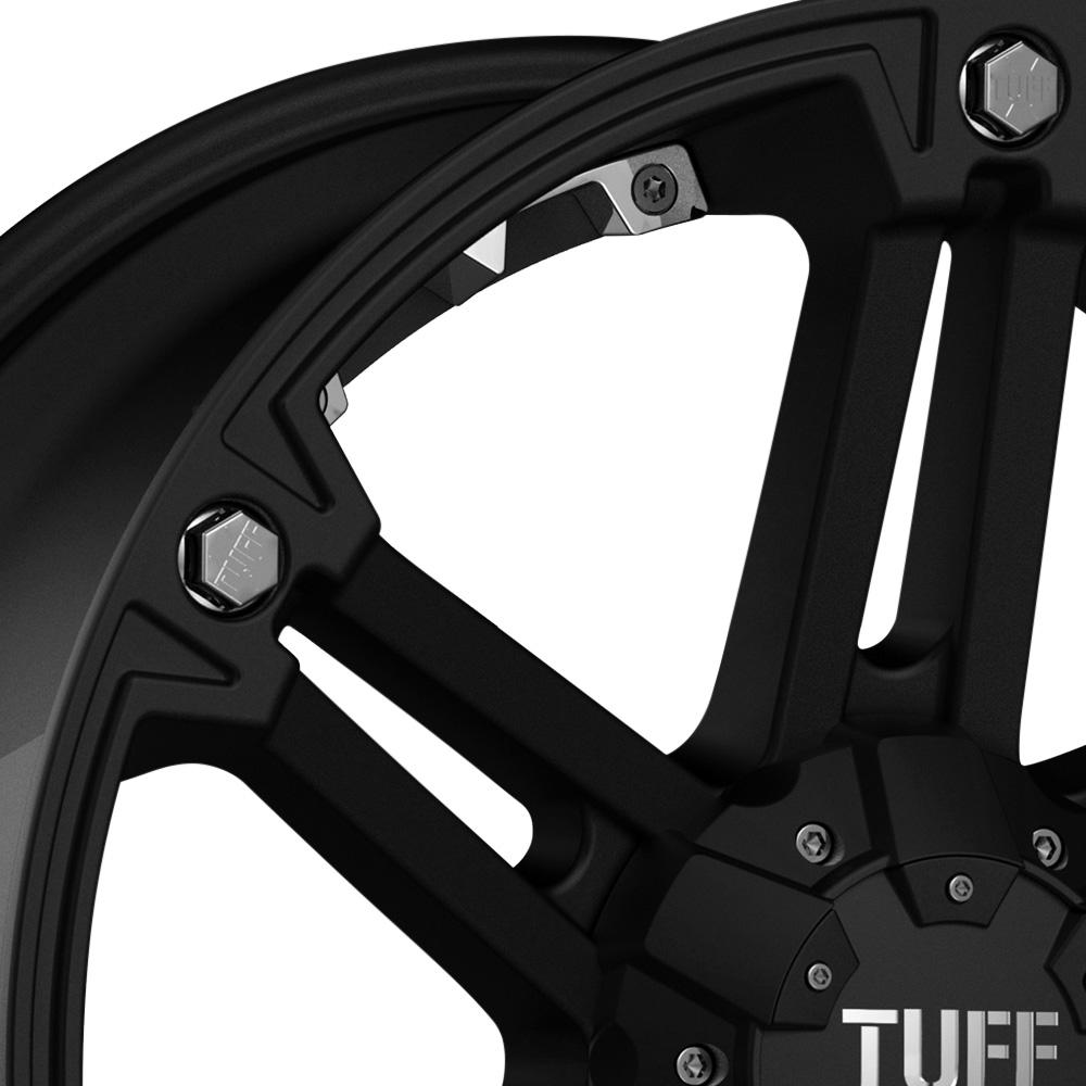 TUFF T01 Flat Black with Chrome Inserts