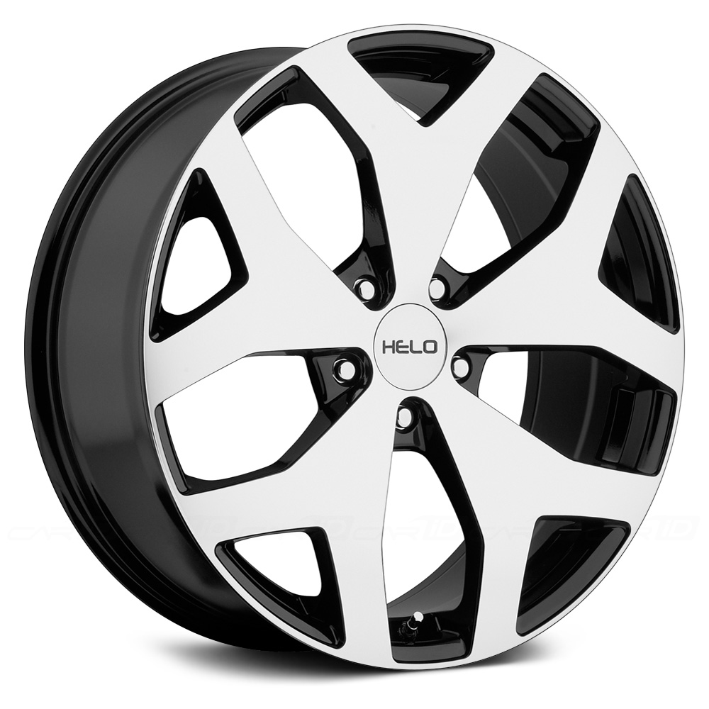 HELO HE881 Gloss Black with Machined Face