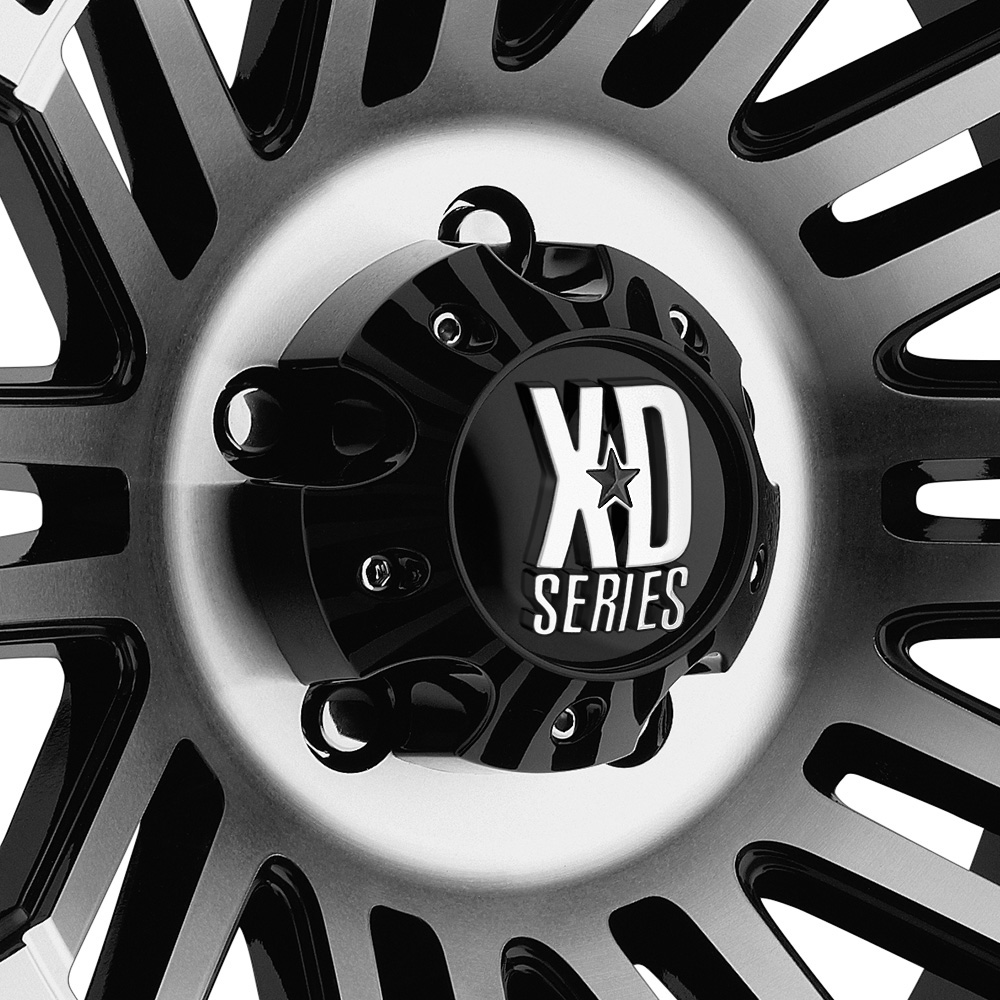 KMC XD SERIES XD810 BRIGADE Gloss Black with Machined Face