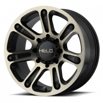 HELO - HE904 Satin Black Machined with Dark Tinted Clear
