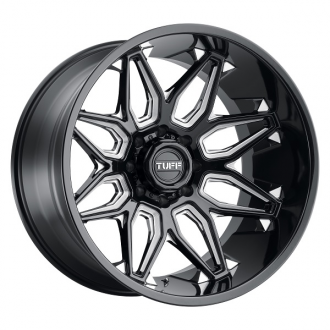 TUFF - T3B Gloss Black with Milled Spokes