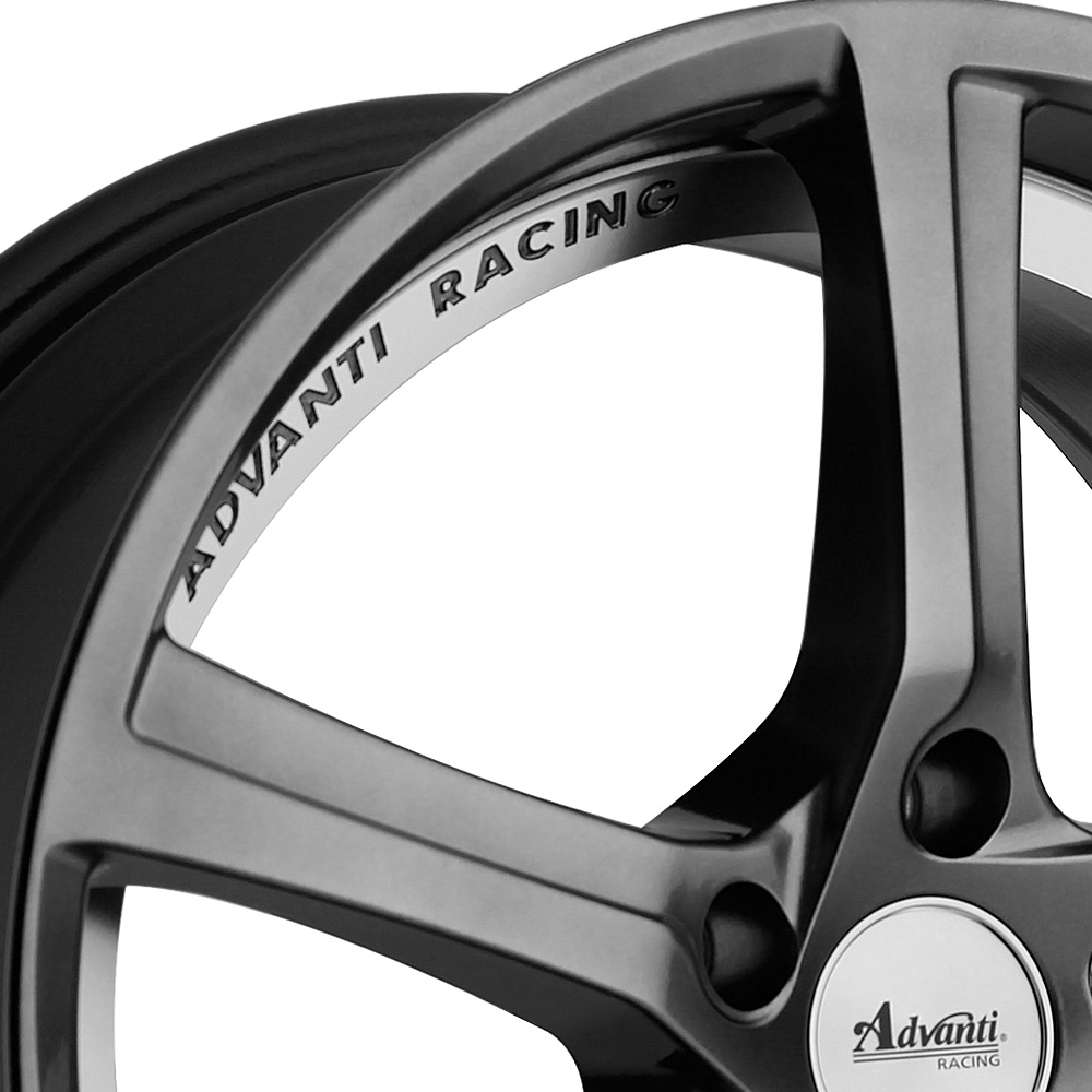 ADVANTI RACING 15th ANNIVERSARY Hyper Dark with Machined Undercut