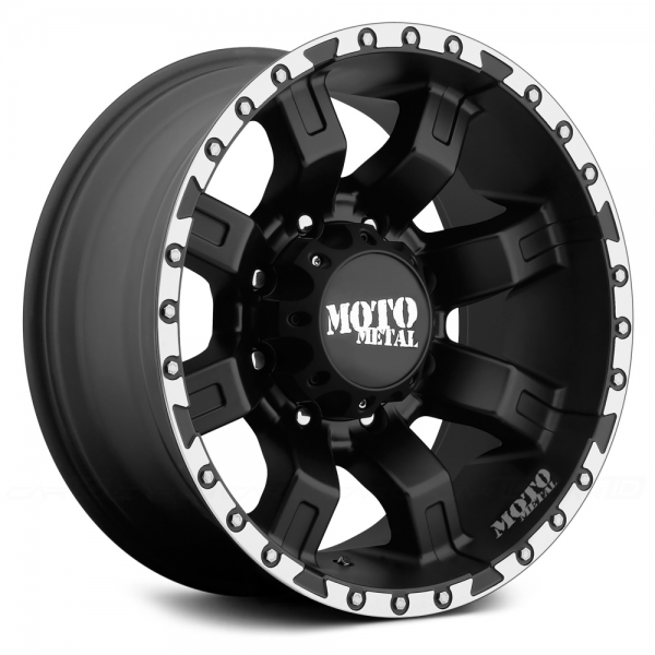 MOTO METAL MO968 Satin Black with Machined Flange