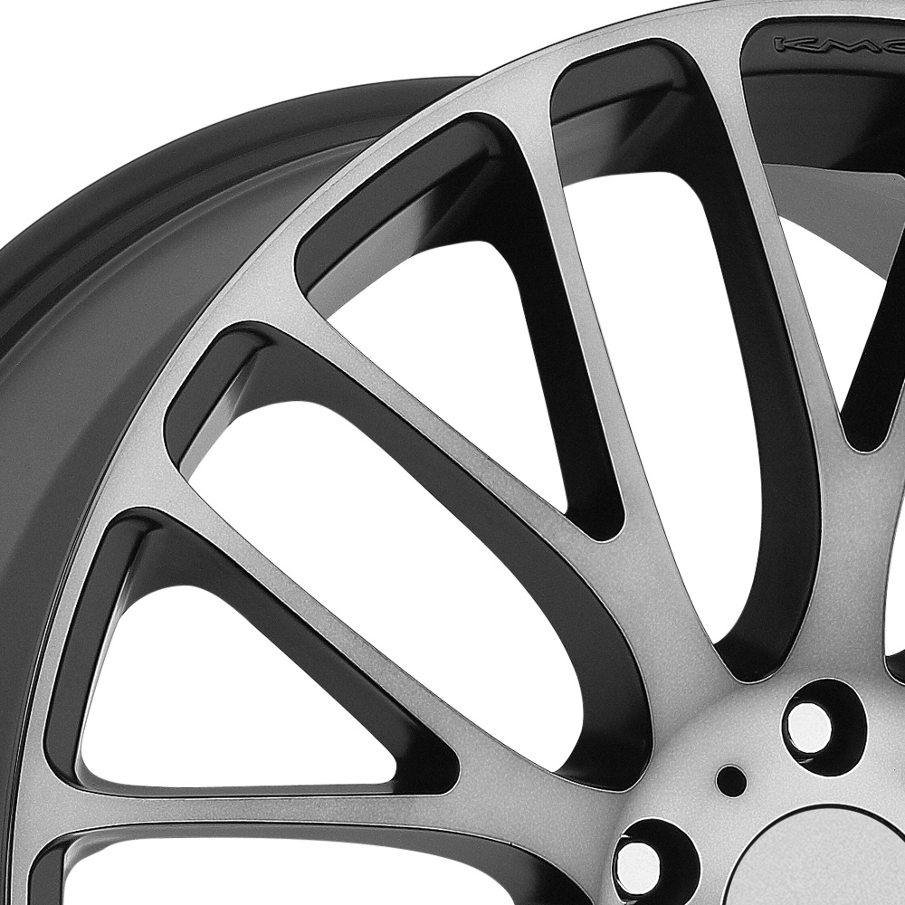 KMC KM693 MAZE Satin Black with Machined Face and Tinted Clear Coat