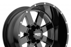 MOTO METAL MO962 Gloss Black with Milled Accents