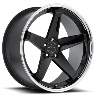 BLAQUE DIAMOND - BD-21 Gloss Black with Chrome Lip