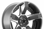 KMC XD SERIES XD811 ROCKSTAR 2 Gloss Black with Machined Face
