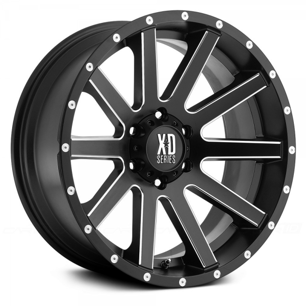 KMC XD SERIES XD818 HEIST Satin Black with Milled Accents