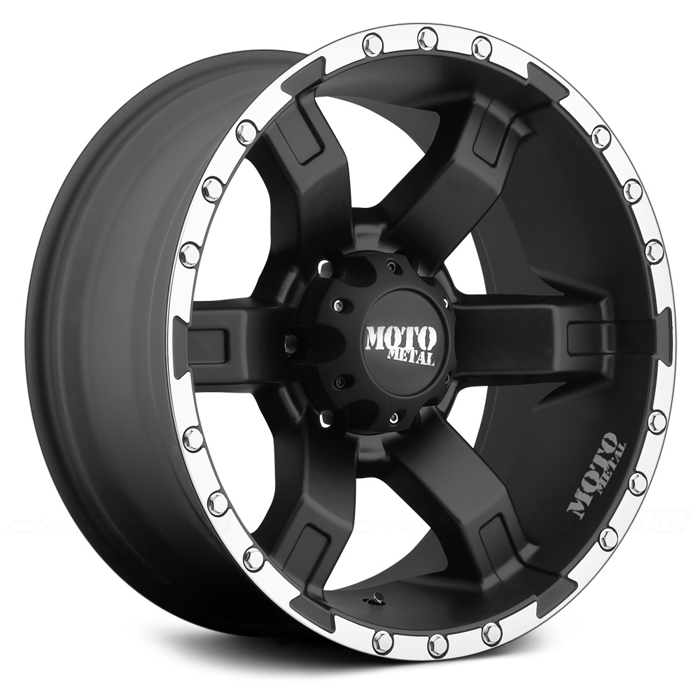 MOTO METAL MO967 Satin Black with Machined Flange
