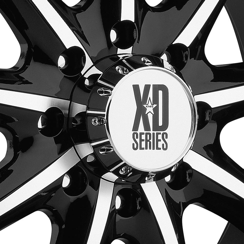 KMC XD SERIES XD779 BADLANDS Gloss Black with Machined Face