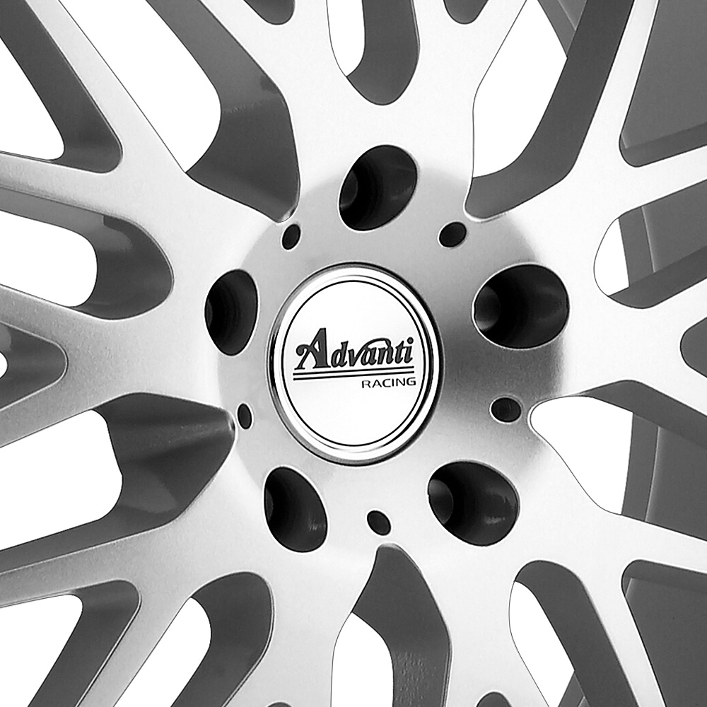 ADVANTI RACING KUDOS Bright Silver with Mirror Machined Lip