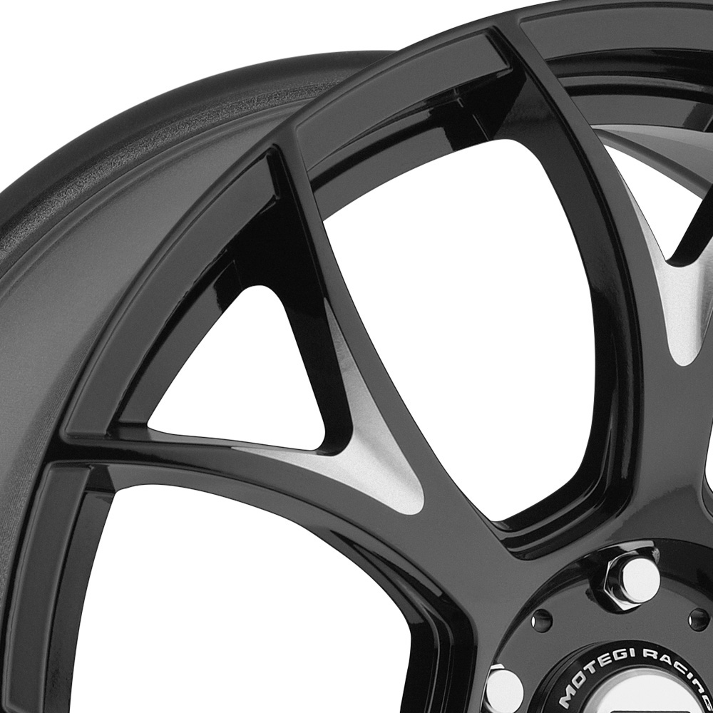 MOTEGI RACING MR126 Gloss Black with Milled Accents
