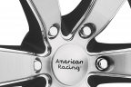 AMERICAN RACING SLATE Matte Black with Brushed Face