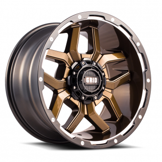 GRID OFF-ROAD - GD-7 Gloss Bronze with Black Lip