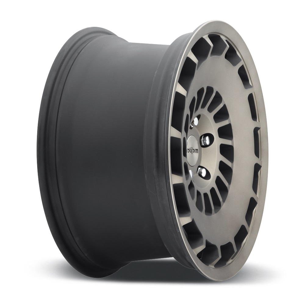 ROTIFORM CCV Black with Machined Face and Double Dark Tint