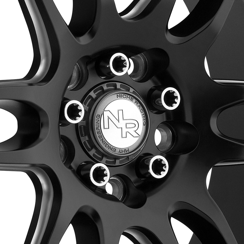 NICHE NR6 Matte Black with Milled Spokes