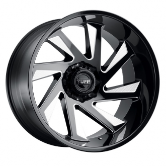 TUFF - T1B Gloss Black with Milled Spokes