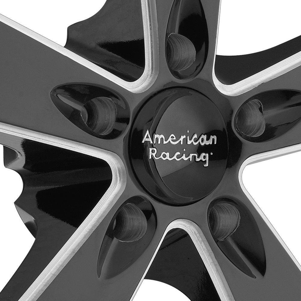 AMERICAN RACING BURNOUT Gloss Black with Milled Spokes and SS Lip