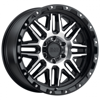 BLACK RHINO - ALAMO Gloss Black with Machined Face & Stainless Bolts
