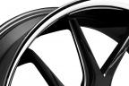 LEXANI R-TWELVE Gloss Black with CNC Windows and Chrome Lip