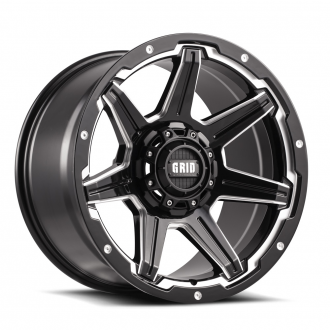 GRID OFF-ROAD - GD-6 Gloss Black Milled