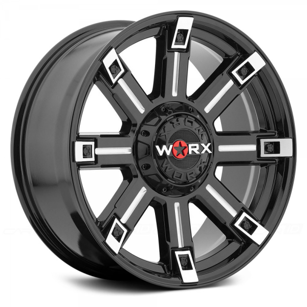 WORX 806BM TRITON Gloss Black with Milled Accents and Clear Coat