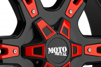 MOTO METAL MO969 Gloss Black with Red and Chrome Accents