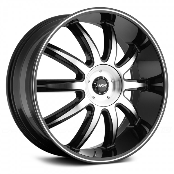 MKW M112 Gloss Black with Machined Face and Groove
