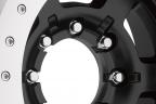 ATX SERIES AX757 CHAMBER PRO II Satin Black with Silver Beadlock
