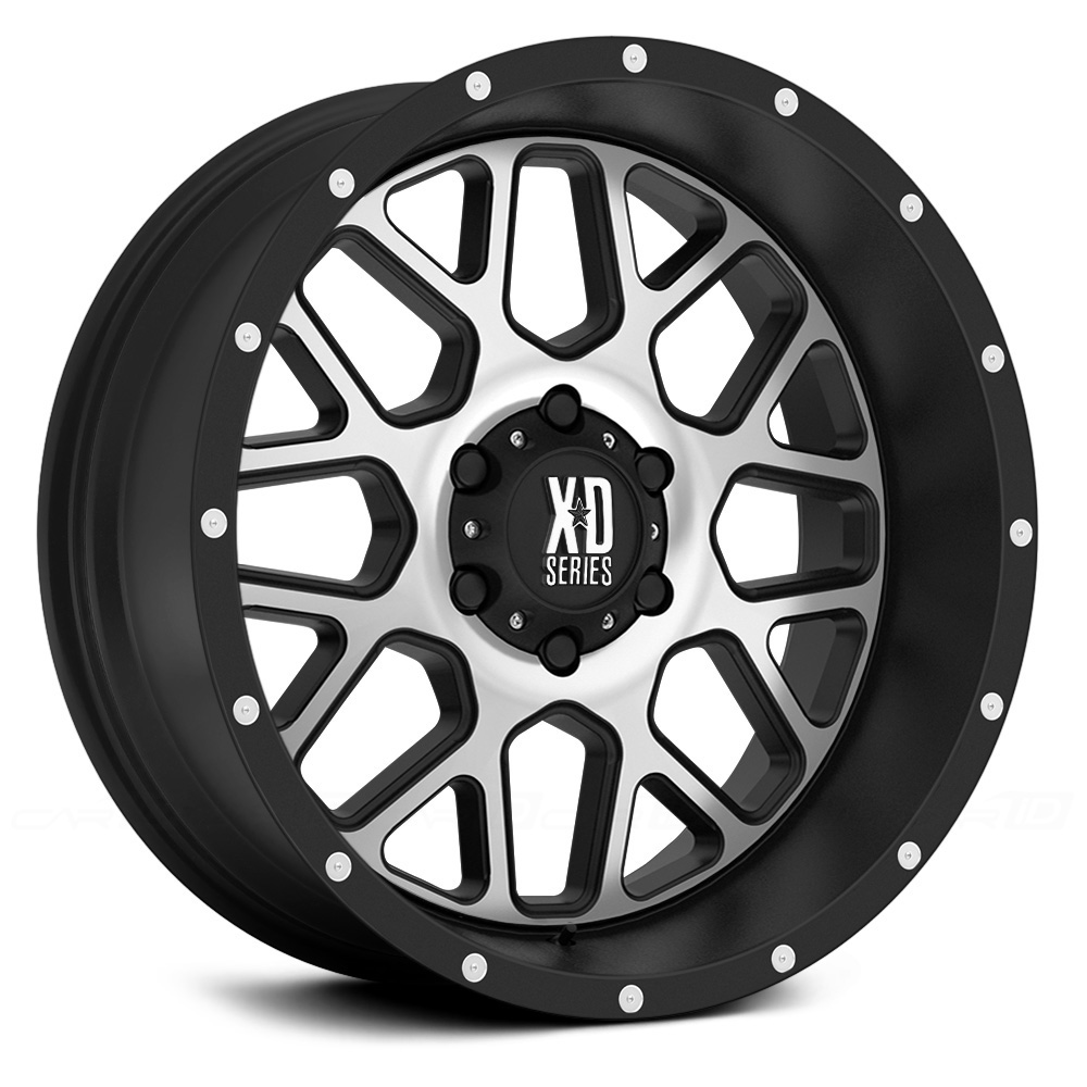 KMC XD SERIES XD820 GRENADE Satin Black with Machined Face