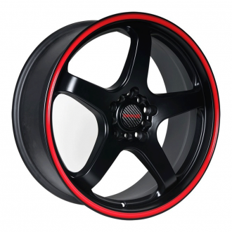 TENZO_RACING - Tracer V1 Matte Black with Red Stripe