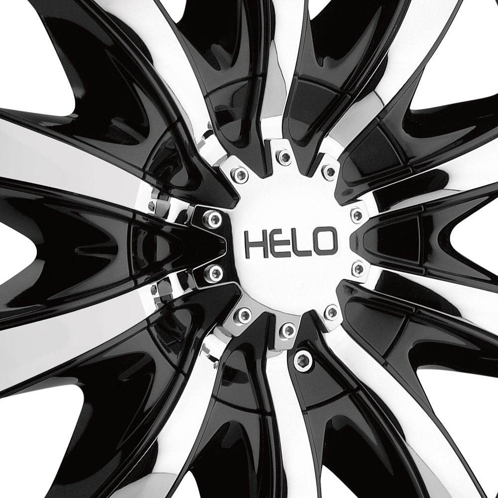 HELO HE875 Gloss Black with Chrome Inserts
