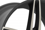 FOOSE STALLION 1PC Black with Machined Face and Double Dark Tint